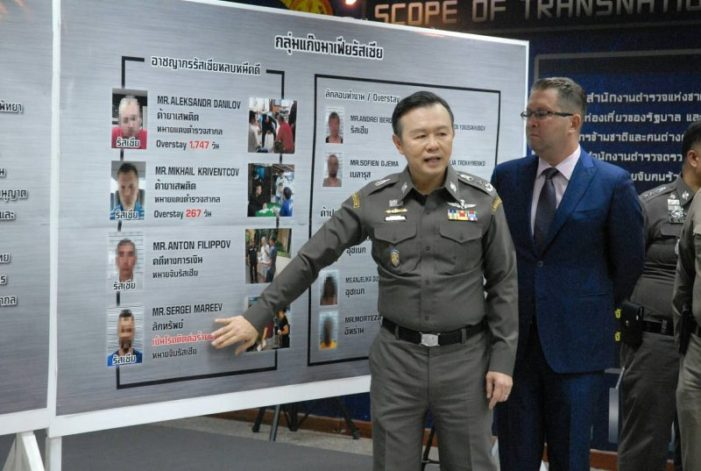Pattaya Police Sweep Nets 14 Foreign Criminals, Including Alleged Russian Mafia Boss