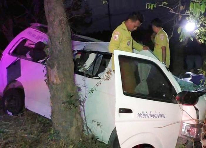 Two Killed and 13 Injured after Passenger Van Slams into Rear of Trailer Truck in Northern Thailand