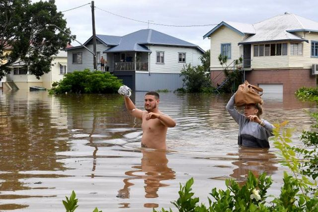 Floodwaters Swamp Towns in Australia after Cyclone Debbie