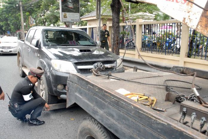 The Number of Vehicles Seized from Drunk Drivers During Songkran Soars