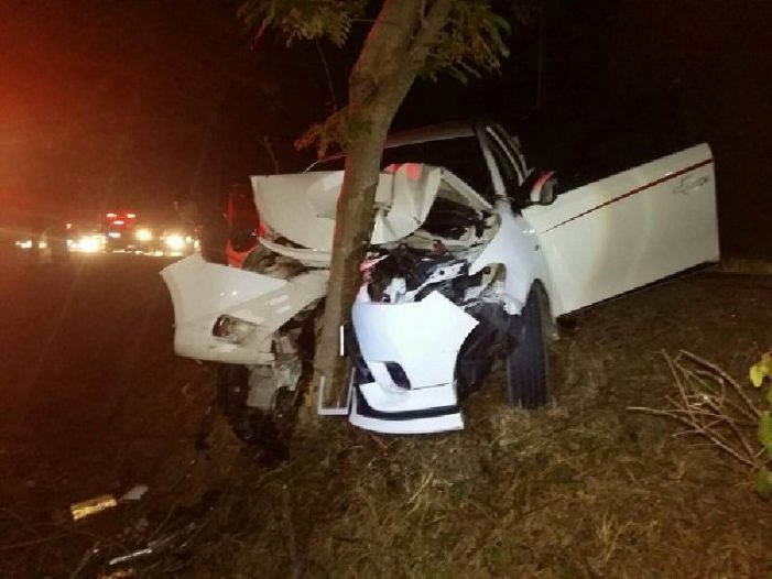 Two Killed and Five in the Back of a Pickup injured after Slamming into a Tree