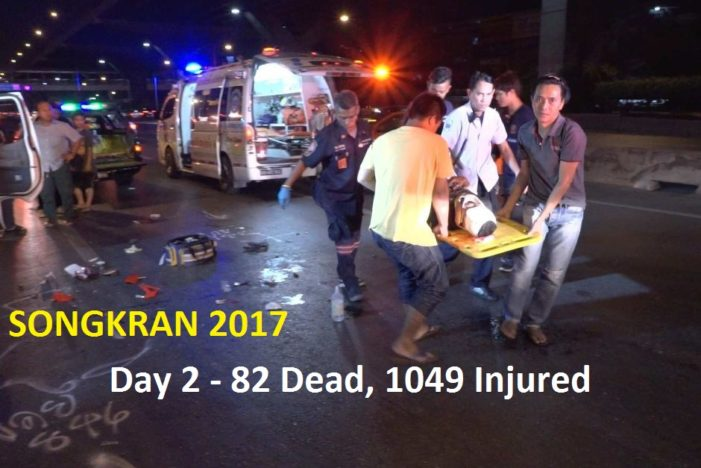 Day 2 of Songkrans Seven Deadly Days – 42 Dead, 1049 Injured, 32,782 Traffic Violations