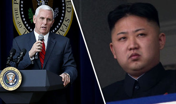 Pence Say's North Korea's 'Missile Provocation' Shows the Risk to Military