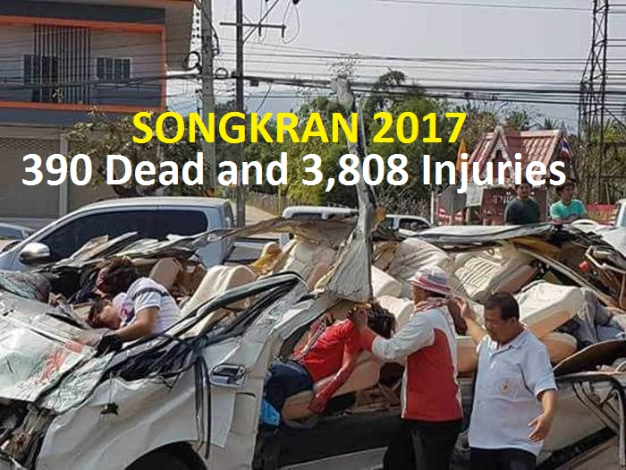 Day 7:  Songkran's Seven Deadly Days – 390 Dead and 3,808 Injuries