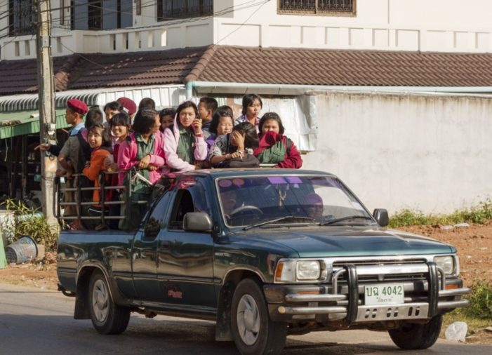Thai Government Flip Flops on Law Banning Riding in the Back of Pickup Trucks