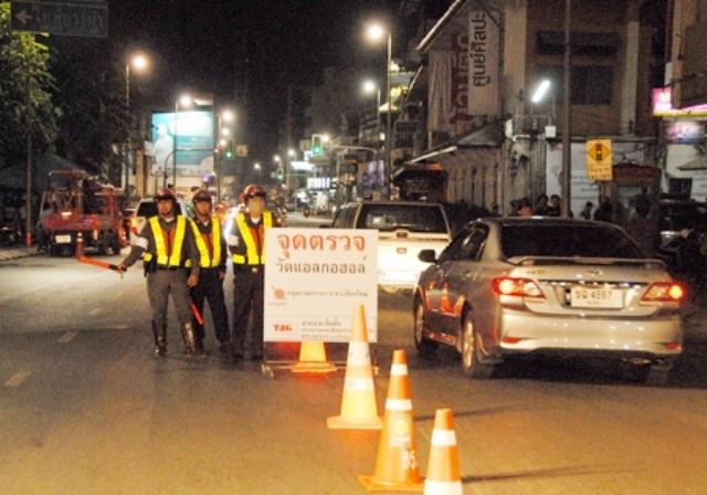Chiang Rai Police Step up Traffic Enforcement Ahead of Songkran Festival