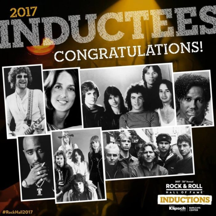 Rock and Roll Hall of Fame Class of 2017 Inductees Includes Pearl Jam, Tupac and Journey