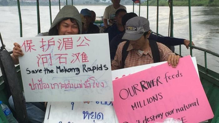 Local Activists in Chiang Rai Protest Against Blasting of Mekong River