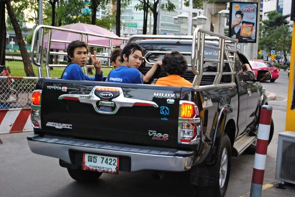 Thai Authorites Look to Ease Rule of Riding in Back of Puckup Trucks