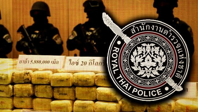 Large Haul of Drugs Seized in Thailand, Before Entering Malaysia