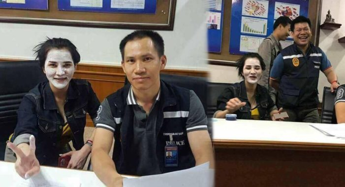 "Mae Sai Immigration Police Transferred for Taking Selfies with Accused Murderer Preeyanuch ""Preaw"" Nonwangchai"