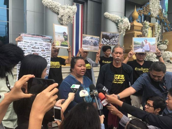 Thai Network of Eight Mekong Provinces Files Law Suit Over Pak Beng Dam