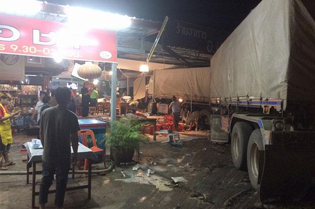 Gravel Truck Rams into Restaurant in Northeastern Thailand Killing Diners