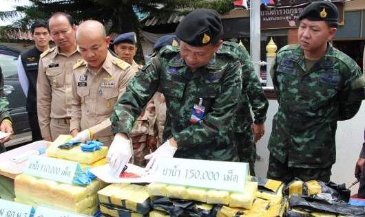 Chiang Rai Authorities Announce Drug Seizures at Press Conference