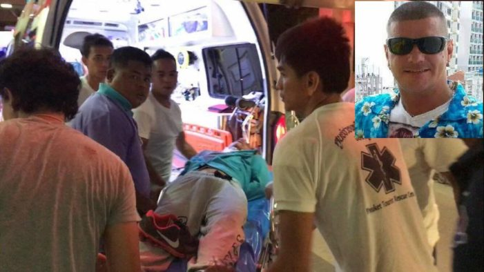 German Cuts his Throat While Being Arrested for Allegedly Killing his Thai Girlfriend in Phuket