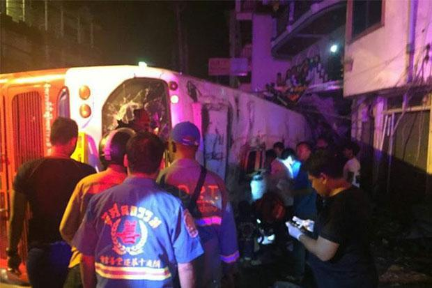 Tourist Bus Crashes in Phuket Two Dead, 24 Injured