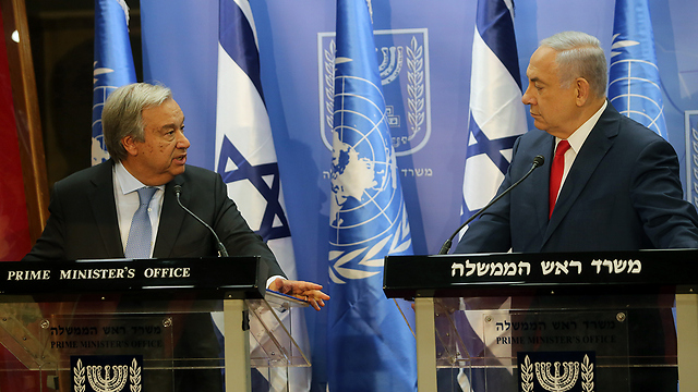 Netanyahu tells UN Chief Iran Building Missile Production Sites in Syria and Lebanon
