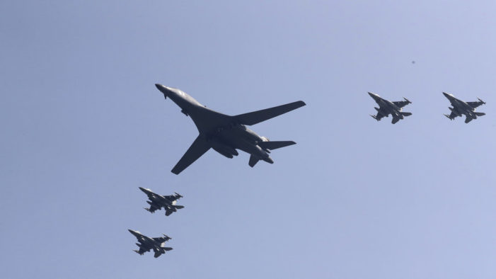 U.S. Flies Bombers and Fighter Jets Over South Korea In Show Of Force To North Korea