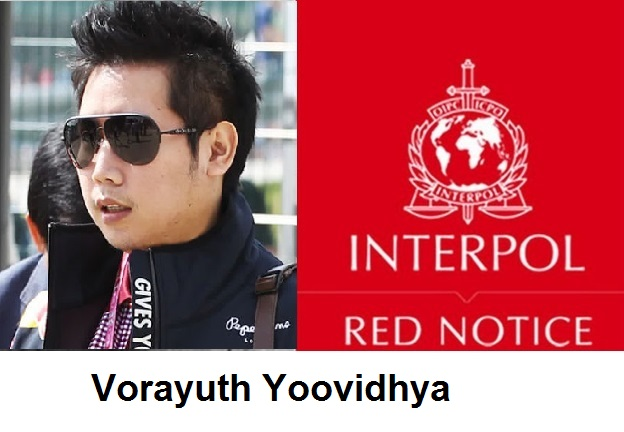 Thai Police say Interpol has Issued Red Notice for Red Bull Heir Vorayuth Yoovidhya