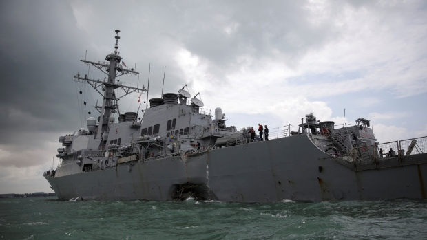 10 Sailors Missing after U.S. Warship John S. McCain Collides with Tanker in South China Sea