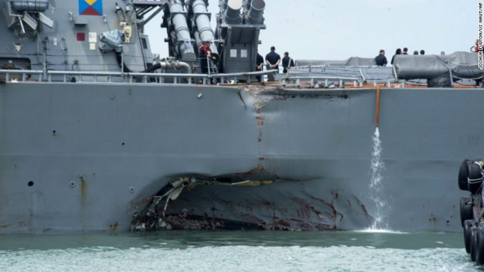 Divers find Remains of all Missing Sailors from USS McCain Collision