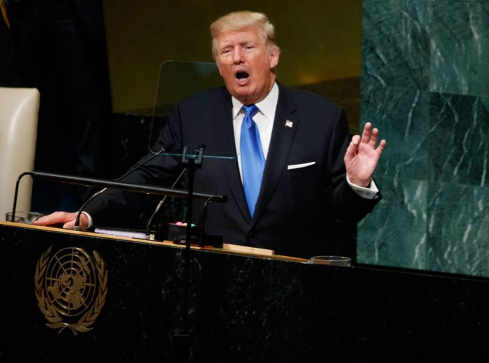 President Donald Trump Tell UN General Assembly the US Will Obliterate North Korea if the United States is Forced to Defend Itself