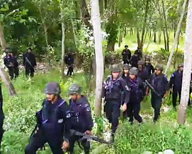 Massive Manhunt in Pattani for Muslim Insurgents after Four Rangers Killed and Six Others Injured in Bomb Attack