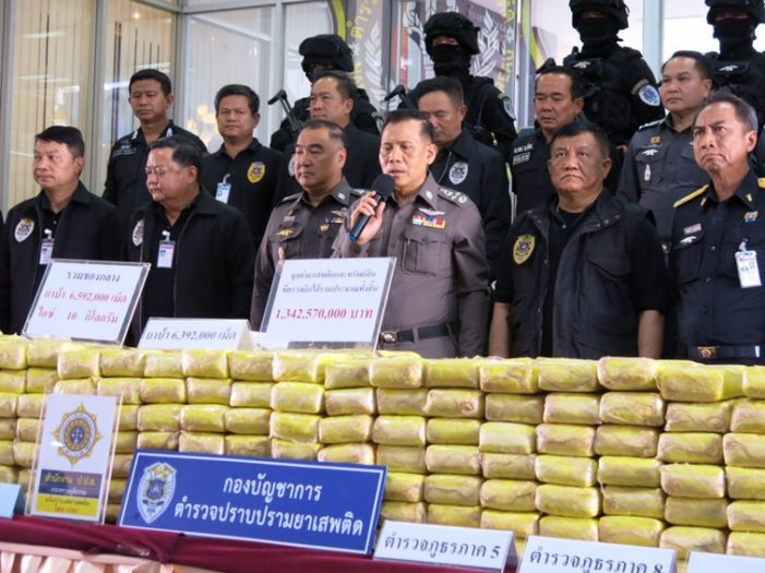 6.5 Million Meth Pills Seize after Narcotics Police Intercepted a Ten-Wheel Truck in Chiang Rai