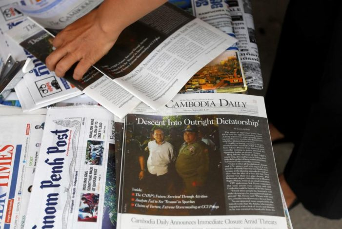 Cambodian Daily Shuts with 'Dictatorship' Parting Shot