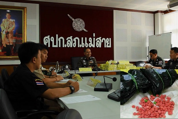 Mae Sai Border Police Arrest 2 Traffickers and Seize Over 275,000 Methamphetamine Pills