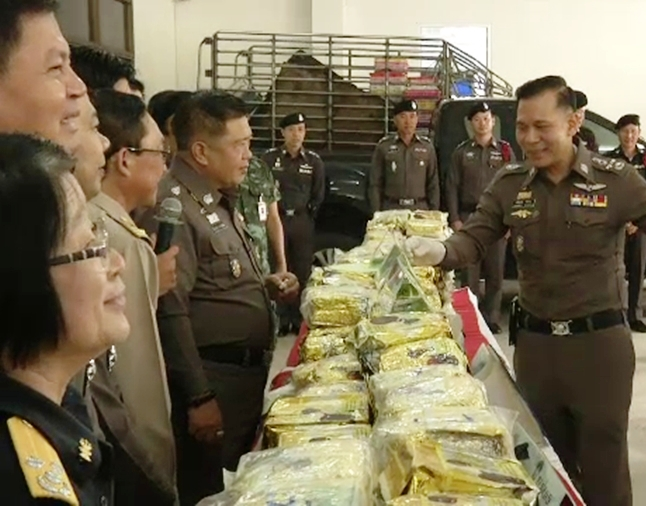 Two Hmong Men Busted in Chiang Rai Transporting 400 Kilo's of Crystal Meth