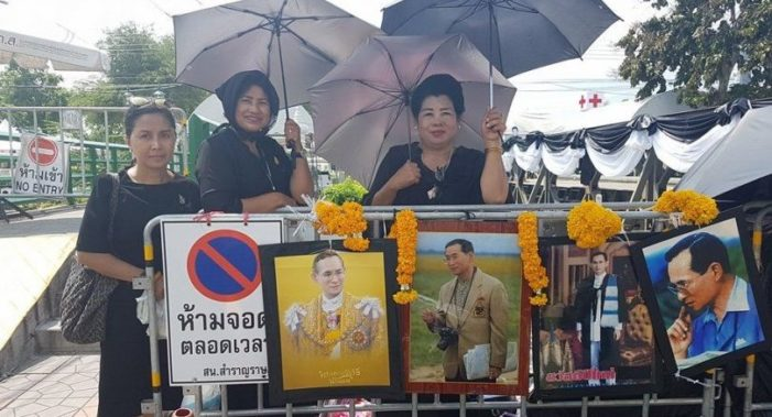 Tears in Rain as Thais Gather for Late King's Funeral