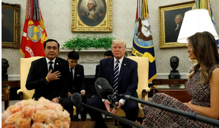 Trump Welcomes Thailand's Junta Leader Prime Minister Prayuth Chan-ocha to the White House