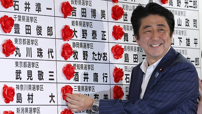 Japan's Prime Minister Abe Heads to Impressive Election Win