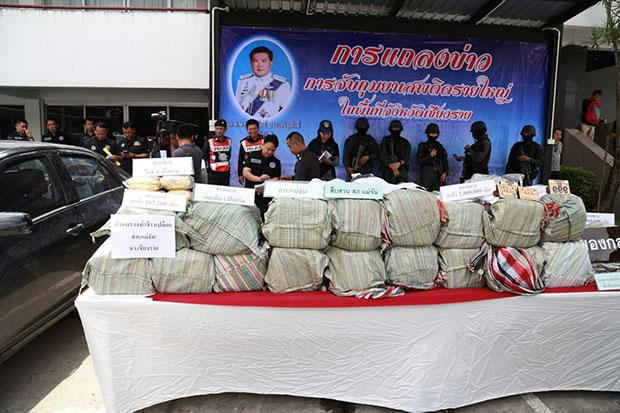 Eight Drug Suspects Arrested in Separate Police Operations in Chiang Rai