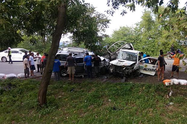 Head-on Collision in Southern Thailand Leaves 3 Dead and 4 Badly Injured