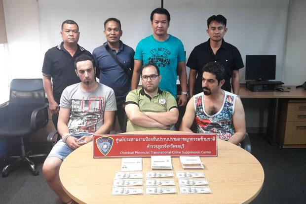 Three Iranian Men Busted for Trying to Pass Fake US Currency in Pattaya