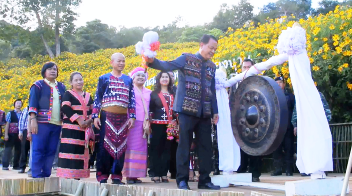 Chiang Rai's Deputy Governor Presides Over Opening of Marigold Festival