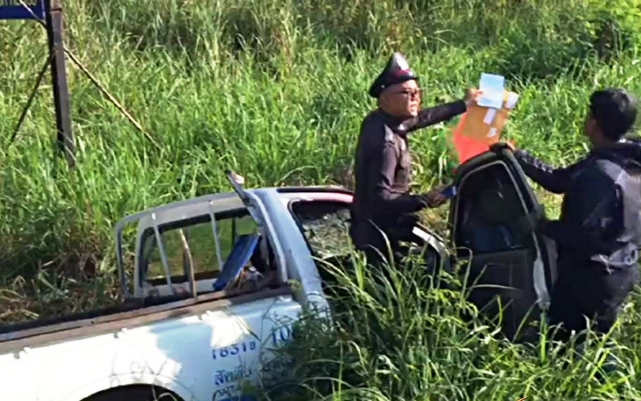 """5 Dead, 9 Injured after Pick-up Traveling at """"High Speed"""" Crashes in Chon Buri Province"""