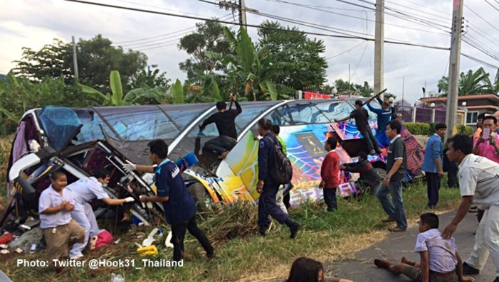 Three Killed, 50 Injured after Bus-Truck Collision in North Eastern Thailand