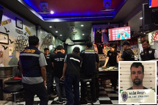 Pattaya Task Force Raids Hells Angels Business, Foreign Employees had No Work Permits