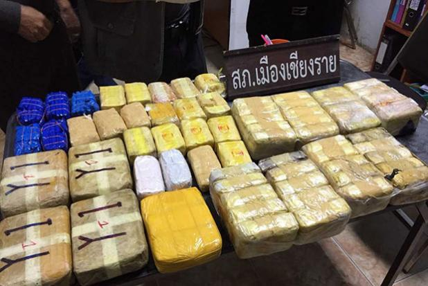 Over 150,000 Meth Pills Found by Villagers on Roadside in Muang Chiang Rai