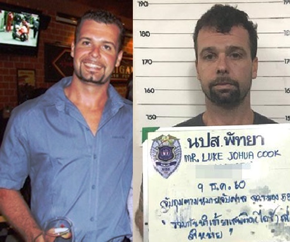 Pattaya Hells Angel Member Luke Cook Arrested at Suvarnabhumi Airport on Drug Smuggling Charges