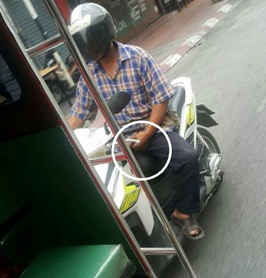 Man Caught Fondling Himself While Riding Scooter in Chiang Mai Goes Viral