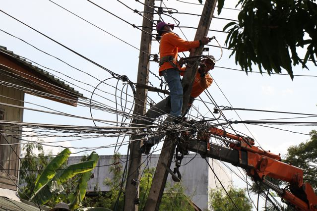 Provincial Electricity Authority to Reorganize Electrical Cables Around Chiang Rai City