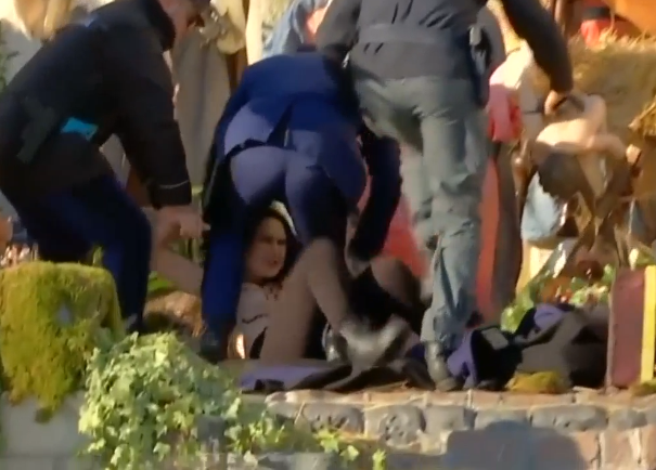 Topless Woman Tries to Snatch Baby Jesus Statue from Vatican Crib