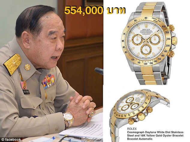 CSI LA Facebook Page Threatens to Expose More Luxury Watches of Thailand's Deputy Prime Minister