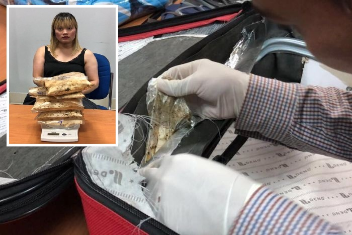Australian Woman Arrested at Cambodia's  Phnom Penh Airport with Suitcase Full of Heroin