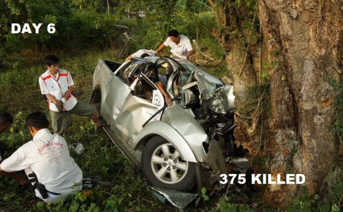 Thailand's Sixth Day Accident Toll for the New Years Holiday 375 Killed, 3612 Injured