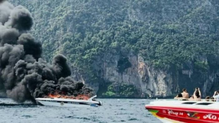 One Tourist Dead, 11 Injured after Speedboat Explodes into Flames Near Phi-Phi Islands